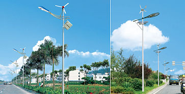 solar wind dual energy street lamp picture